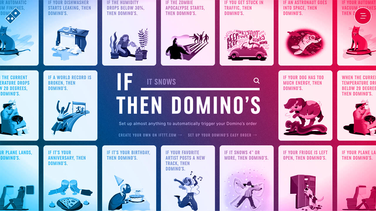 Screenshot of If This Then Dominos